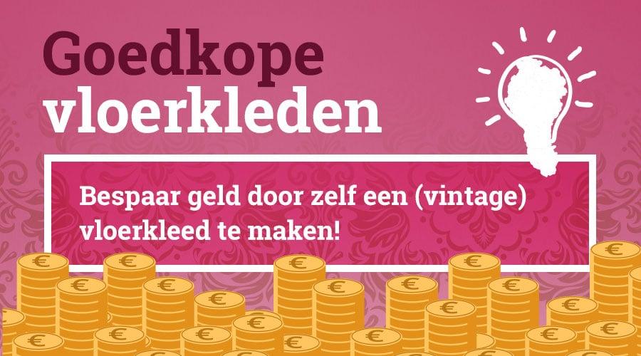 Bespaar geld door zelf goedkope vloerkleden te maken. Bijvoorbeeld een vintage design!