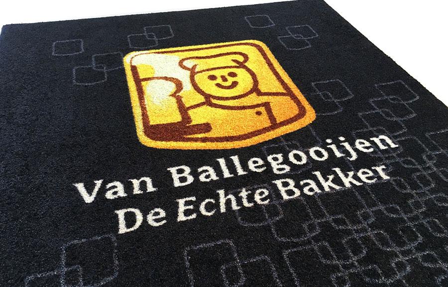 Deurmat met logo van De Echte Bakker