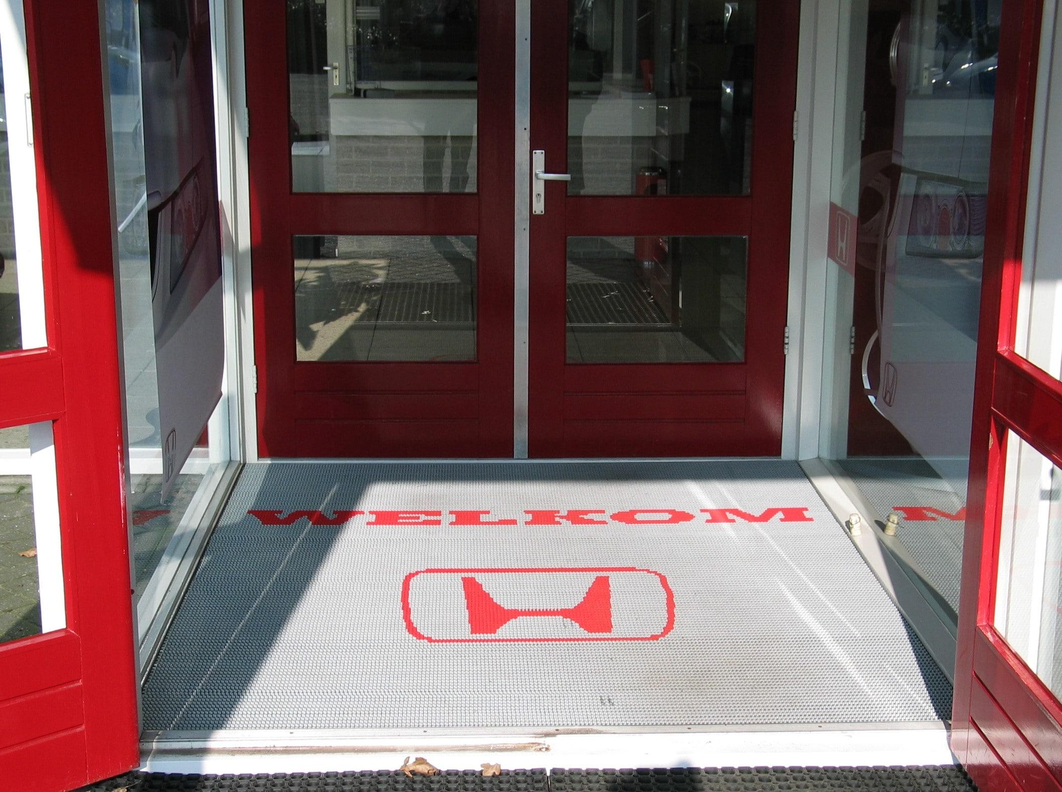Borstelmat met logo voor Honda