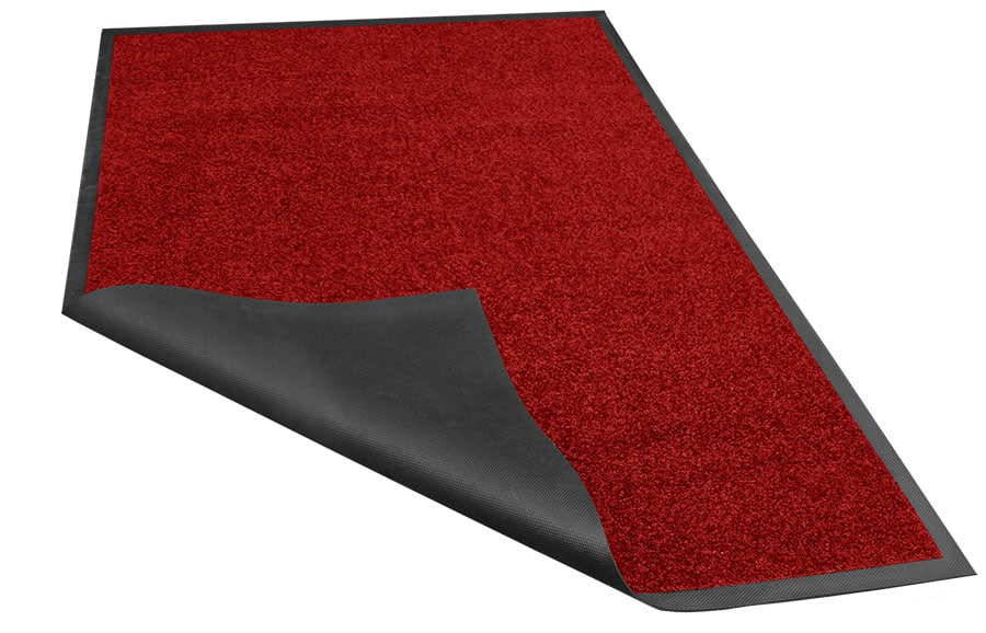 Rode loper van textiel