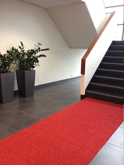 Rode loper voor de trap