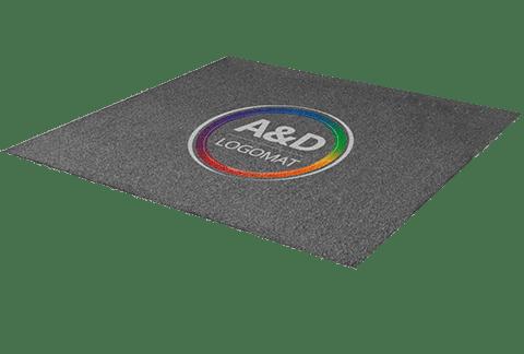 Deurmat met logo - Logomat Pro buiten