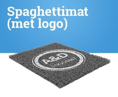 Spaghettimat met logo