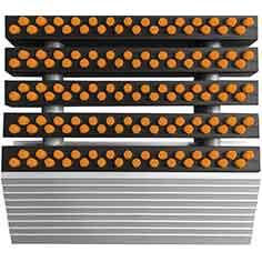 Borstelmat oranje