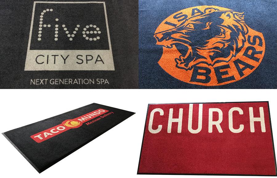 Deurmat met logo, voorbeelden in Amsterdam.