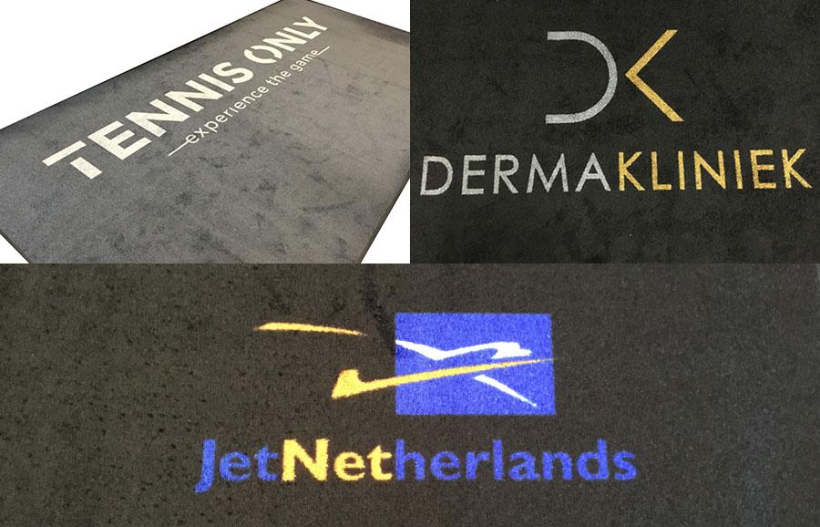 Deurmat met logo, voorbeelden in Rotterdam.
